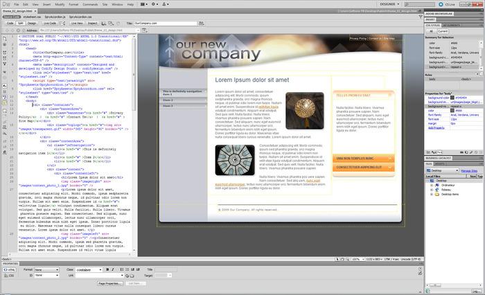 Formation Dreamweaver débutant et avancé sur PC et Mac
