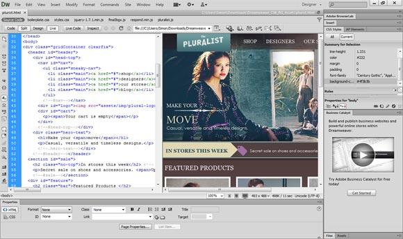 Formation sur le logiciel Dreamweaver PC et Mac